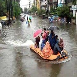 पटना में पिछले साल आई बारिश के बाद बाढ़ की तस्वीर