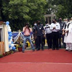 आर ब्लॉक चौराहे फ्लाइओवर का उद्घाटन करते सीएम नीतीश कुमार. डिप्टी सीएम सुशील कुमार भी साथ में मौजूद.