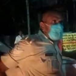 पटना में शराबी सिपाही की पीछे दौड़े लोग