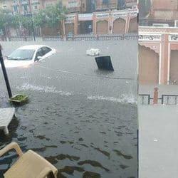 जयपुर में भारी बारिश से बाढ़, पिंक सिटी में कई इलाके डूबे तो कई में जलजमाव