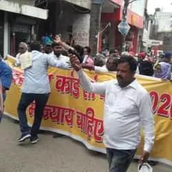 मुजफ्फरपुर में दीघरा कांड के दौरान प्रदर्शन करने वालों पर पुलिस की सख्ती.