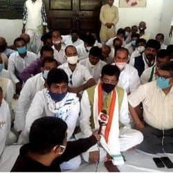 किसान कानून के खिलाफ कांग्रेस का प्रदर्शन जारी.