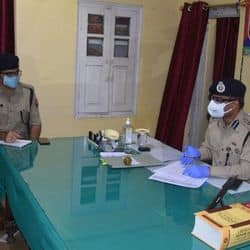 SSP ने देर रात कोतवाली इलाके में की गश्त, क्राइम कंट्रोल करने के दिए निर्देश