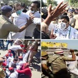 हाथरस मामले में CM योगी की पुलिस ने पूरे विपक्ष पर लाठियां बरसा दी