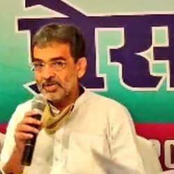 राष्ट्रीय लोकसमता पार्टी प्रमुख उपेंद्र कुशवाहा ने शनिवार को अपनी पार्टी का वचन पत्र जारी कर दिया.