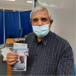 डा. अरुण कुमार त्यागी कोरोना वैक्सीन लगवाने के बाद.