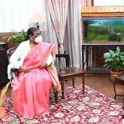 राज्यपाल द्रौपदी मुर्मू ने राजभवन ने डीजीपी एमवी राव से की मुलाकात