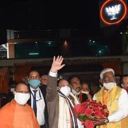 पंचायत चुनाव से पहले यूपी दौरे पर BJP अध्यक्ष जेपी नड्डा, CM योगी का काम सराहा