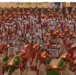 महिला दिवस 2021: अस्सी घाट पर एक हजार महिलाओं ने किया शिव तांडव श्रोत