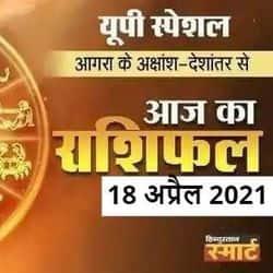 सूर्योदय और सूर्यास्त के अनुसार उत्तर प्रदेश के आगरा का आज का राशिफल 18 अप्रैल 2021.