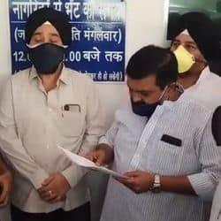 कांग्रेस नेताओं ने आईजी इंदौर को ज्ञापन सौंपा .