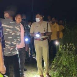 घटना स्थल पर पहुंचे एसपी कुमार गौरव