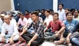 जगैली पावर सब स्टेशन पर ग्रामीणों ने किया प्रदर्शन