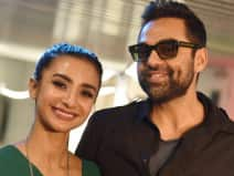 Abhay Deol and Patralekha pose for a photograph at HT House