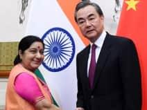 Sushma Swaraj meets Chinese counterpart Wang Yi