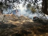 Amethi, gruesome, fire, house, burning water