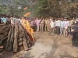 सिपाही राहुल का गमगीन माहौल में हुआ अंतिम संस्कार