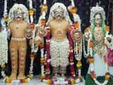 चार किलो चंदन से श्रीलक्ष्मी-नारायण का शृंगार (फोटो-मदन मेहरोत्रा)