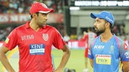 Ravichandran Ashwin of the Kings XI Punjab and Ajinkya Rahane of the Rajasthan Royals