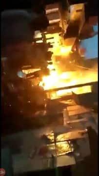होटल में गैस सिलेंडर से लगी भयंकर आग, हजारों का नुकसान