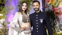 Sonam Kapoor and anand ahuja reception pics