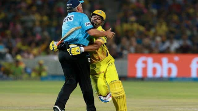 Raina and Umpire
