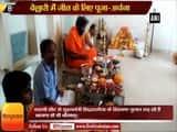 Bellary- BJP\'s B.Sriramalu prays ahead of counting of votes