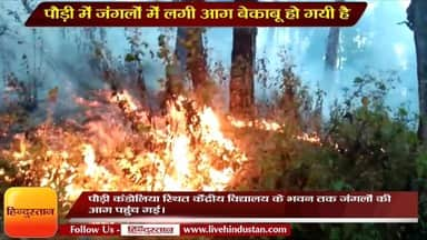 KV Pauri came under influence of forests fire