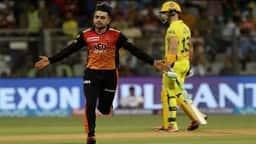 Rashid khan bowled dhoni