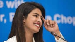 Priyanka Chopra speaks during an interview in Dhaka