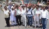 मोदी सरकार के खिलाफ कांग्रेस का सड़क पर प्रदर्शन