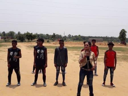 गोला में खोरठा एलबम जिंस पिंध के सनम की शूटिंग