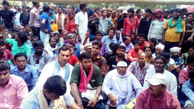 protest of Flood displaced victims on katihar collectorate