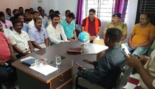 क्राइम कंट्रोल के लिए बरहड़वा में की बैठक