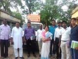 भाजपा के चलंत कार्यालय का स्वागत, समस्याओं को लेकर दिया आवेदन