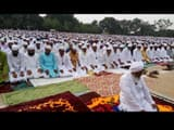 People from Muslim community who worshiped Eid at Idgah ground in Nathnagar, bhagalpur