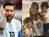 Messi with family
