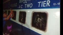 robbery and molestation with rail passengers in patna hatia express train near kiul junction