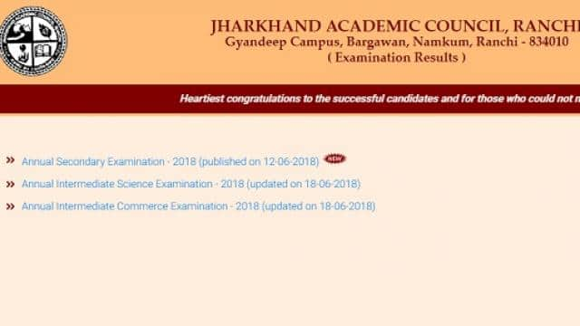 Jharkhand JAC 12th Arts Result 2018