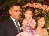 MS Dhoni with His Daughter Ziva and Wife Sakshi