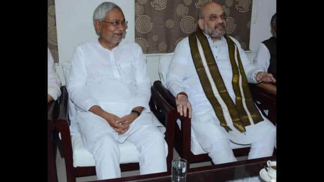nitish kumar and Amit Shah