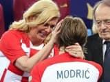 Luca Modric and Croatian President