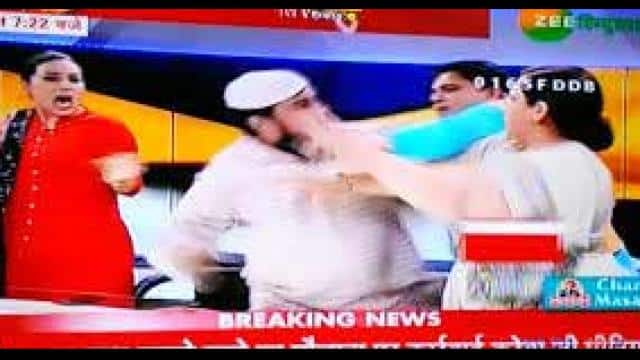 Fight in live tv show