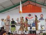 गुरुग्राम में स्टूडेंट पुलिस कैडेट कार्यक्रम का रिमोट से नेशनल रोलआउट करते गृह मंत्री राजनाथ सिंह