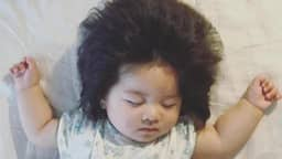 This cute six month-old girl has 70000 followers on Instagram thanks to her incredible mop of hair