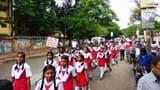 मिजिल्स रूवेला टीकाकरण अभियान को लेकर निकली मेगा रैली