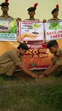 बच्चों और बड़ों ने पौधे रौपकर लिया पर्यावरण संरक्षण की शपथ