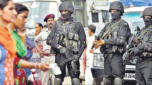 National Security Guards (NSG) commandos in New Delhi.(HT File Photo)