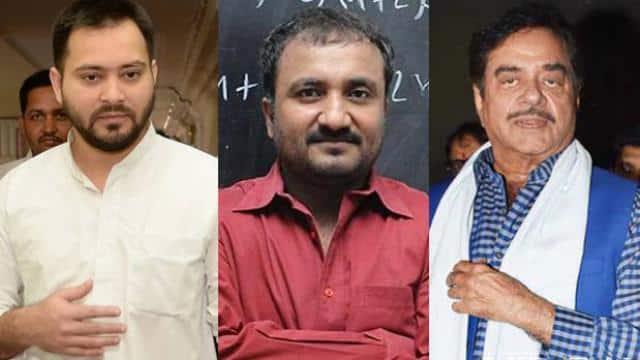 Tejashwi Yadav, Anand Kumar and Shatrughan Sinha