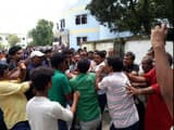 rampage in university campus and beaten of Pro Vice Chancellor by students in BNMU at madhepura